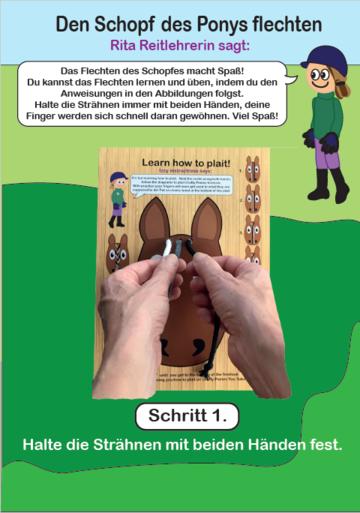 Crafty Ponies Schopf-Flechtbrett