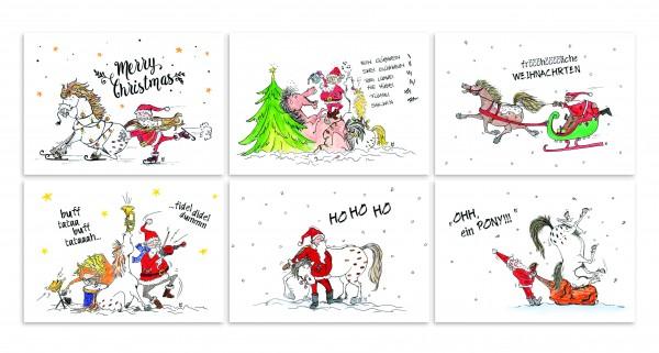 Postkarten Weihnachtsserie von Wiebke Scheller