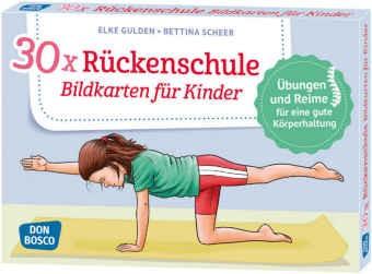 30x Rückenschule - Bildkarten für Kinder